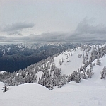 Snowy scenery from Mount Seymour Provincial Park.