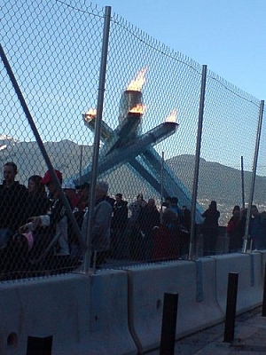 The Olympic Flame in Vancouver (2010).