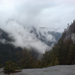 Mountain scenery from the trail up the Stawamus Chief — nearly at the top!