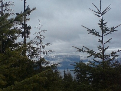 Cloudy views from the Sunshine Coast Trail.