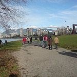 Exploring Vancouver along the Seaside Trail through Vanier Park.
