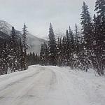 A road through the mountains.
