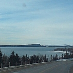 A view of Lake Superior from the truck.