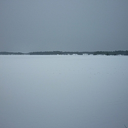 An expansive view of Lake Nipissing from Lapin Beach.