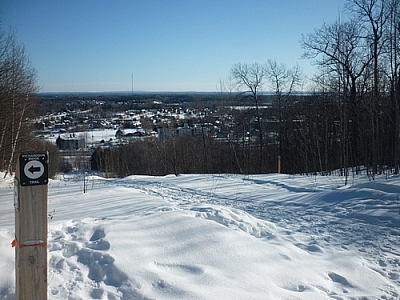 City scenery from the Laurentian Escarpment Trails in North Bay.