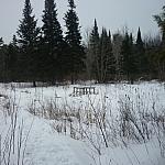 Bridge over a wetland while following Mashkinonje Park's Samoset Trail.