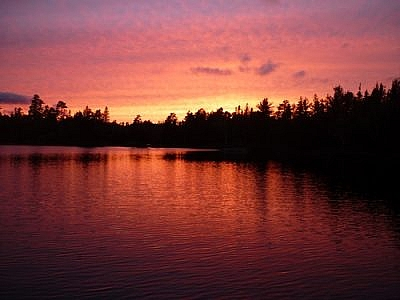 Sunset over Lake Temagami.