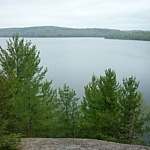 View over Semiwite Lake from the trail.