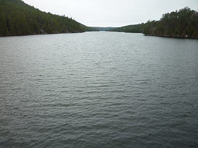 View from the bridge at the end of the Etienne Trail loop.