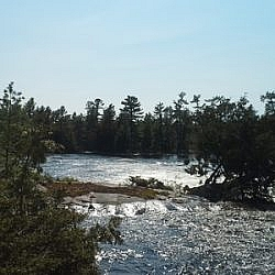 Scenery from French River's Five Finger Rapids.