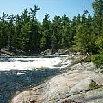 The shoreline at Five Finger Rapids, French River.