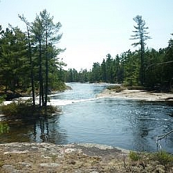 Beautiful scenery at Five Finger Rapids, French River.