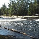 Glistening waters at Five Finger Rapids.