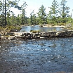 Natural beauty at Five Finger Rapids on the French River.