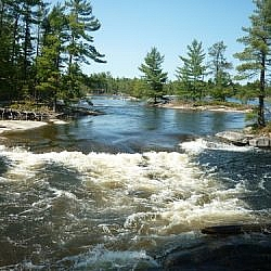Fantastic scenery while on a weekend hike to Five Finger Rapids, French River.