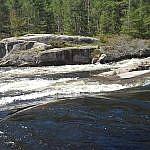 Close-up of Five Finger Rapids.