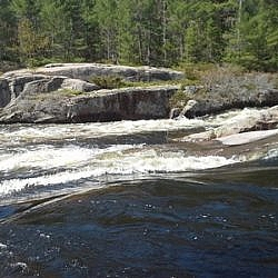 Close-up of Five Finger Rapids.