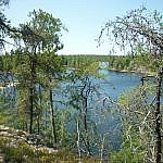 View of French River from Papase Trail at Dokis First Nation.