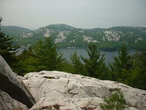Scenery from the La Cloche Silhouette Trail during a day hike to The Crack and beyond.