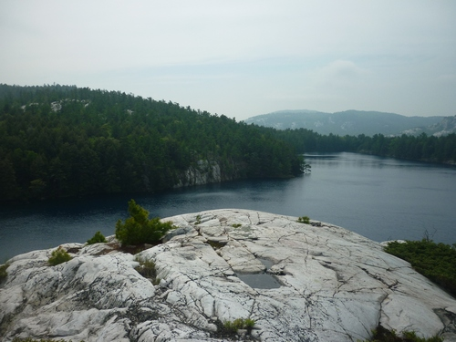 Lake scenery from the La Cloche Silhouette Trail.