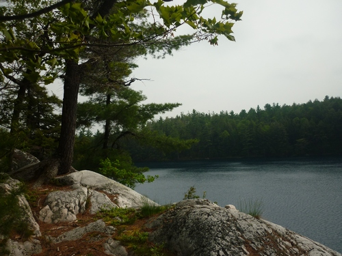 View from the Proulx Lake campsite on the La Cloche Silhouette Trail in Killarney.