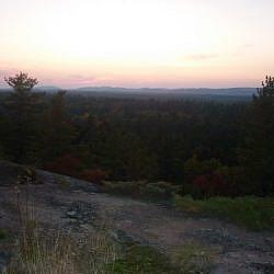 Sunset over Point Grondine Park.