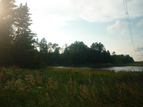 The sun setting over Barbotte Trail in French River.