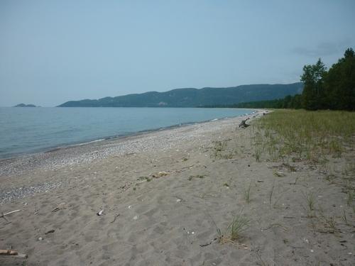 The beach at Agawa Bay.