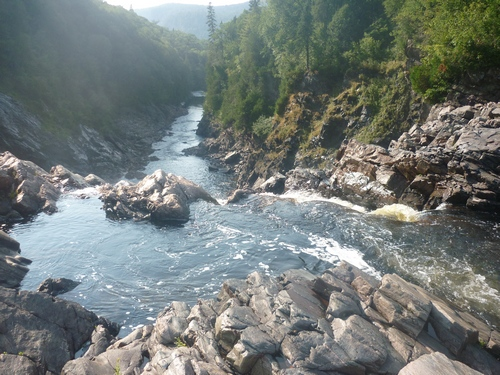 View of the Agawa River from Agawa Falls.