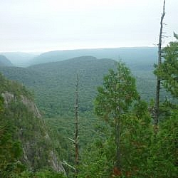 Scenery from one of the lookout points on the Awausee Trail.