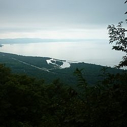View of Agawa Bay from the Awausee Trail, one of many Lake Superior Hikes.