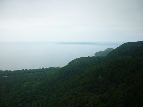 Lake Superior scenery, as seen from the Awausee Trail.