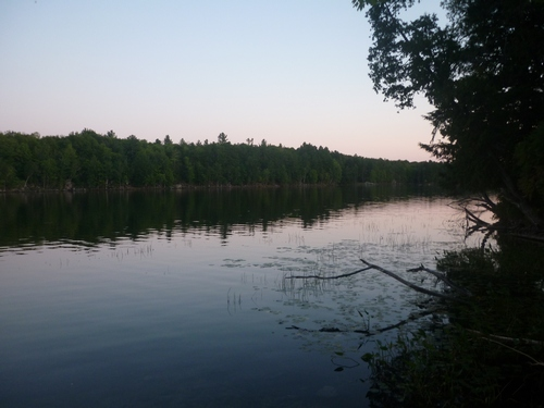 Sunset view from our campsite on Buck Lake.