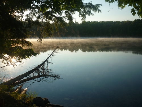 Sunrise scenery from our campsite at Buck Lake.