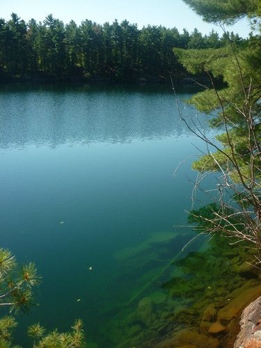 View of Big Clear Lake from our campsite at Frontenac Park.
