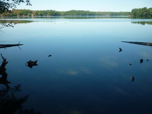 A peaceful lake at Frontenac Park.