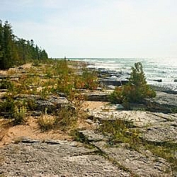 Scenic beauty along the Manitoulin Island shoreline.