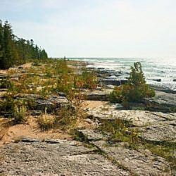 Scenic beauty along the Manitoulin Island shoreline.